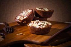 Домодельные очень вкусные свежие шоколад и торт миндалин Стоковая Фотография RF