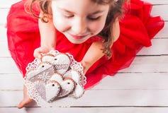 Домодельные печенья в руках Стоковое фото RF