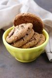 Домодельные печенья десертов с обломоками шоколада Стоковая Фотография