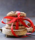 Домодельные печенья десертов с обломоками шоколада Стоковые Изображения