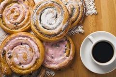 Домодельные печенья и кофе Стоковая Фотография RF