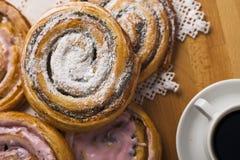 Домодельные печенья и кофе Стоковые Фотографии RF