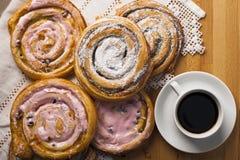 Домодельные печенья и кофе Стоковое Изображение