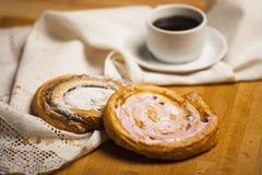 Домодельные печенья и кофе Стоковые Изображения