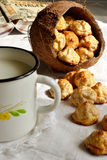Домодельные печенья кокоса Стоковая Фотография