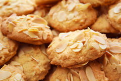Домодельные печенья миндалины. Стоковые Изображения