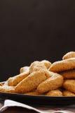 Домодельные печенья на черноте Стоковая Фотография RF