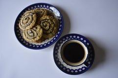 Домодельные печенья овсяной каши с кофе Стоковое фото RF