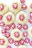 Домодельные печенья поцелуя тросточки конфеты Стоковые Изображения