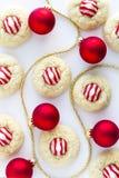 Домодельные печенья поцелуя тросточки конфеты Стоковое фото RF