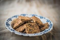 Домодельные печенья семян тыквы Стоковые Фото