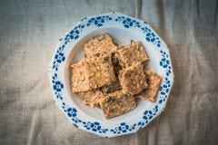 Домодельные печенья семян тыквы Стоковые Изображения RF