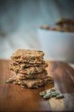 Домодельные печенья семян тыквы Стоковое Изображение RF