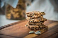 Домодельные печенья семян тыквы Стоковое Фото