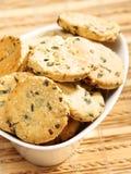 Домодельные печенья с луком Стоковая Фотография