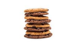 Домодельные печенья шоколада изолированные на белизне Стоковое Изображение