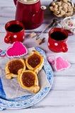 Домодельные плюшки с вареньем Стоковая Фотография RF