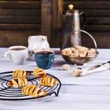 Домодельные плюшки с вареньем Стоковое Изображение RF