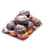 Домодельные свежие donuts на плите Стоковое Фото