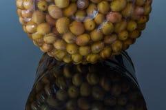 Домодельные соленья зеленой оливки comestible для завтрака стоковые изображения