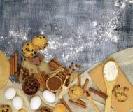 Домодельные торты с специей и шоколадом Праздники ароматностей Новый Ye Стоковая Фотография