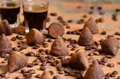 Домодельные трюфеля ванили и кофе шоколада Стоковое Изображение RF