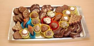 Домодельные трюфеля шоколада Стоковая Фотография