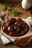 Домодельные шарики мяса барбекю Стоковая Фотография