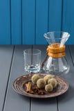 Домодельные bonbons шоколада с специями и изделиями кофе Стоковая Фотография