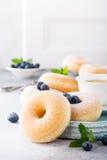 Домодельные donuts с сахаром Стоковое фото RF