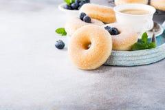 Домодельные donuts с сахаром Стоковая Фотография RF