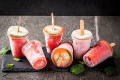 Домодельные popsicles коктеиля Стоковое Изображение RF