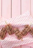 Домодельные popsicles шоколада Стоковая Фотография RF