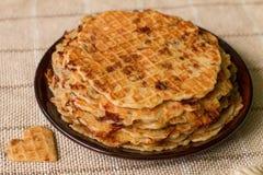 Домодельные waffles на плите завтрак романтичный Стоковое Фото
