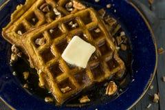Домодельные Waffles специи тыквы Стоковая Фотография RF