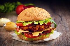 Домодельный вкусный сандвич Стоковая Фотография