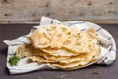 Домодельный горячий chapati стоковая фотография