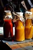 Домодельный кетчуп томата стоковые фотографии rf