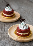 Домодельный красный торт бархата Стоковые Фото