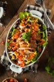Домодельный мексиканский шар буррито цыпленка Стоковые Фотографии RF