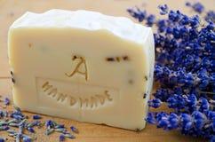Домодельное мыло с лавандой Стоковые Изображения RF