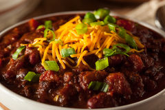 Домодельный органический вегетарианский Chili Стоковые Изображения