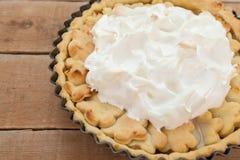 Домодельный органический пирог ревеня яблока Стоковые Изображения