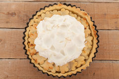 Домодельный органический пирог ревеня яблока Стоковая Фотография