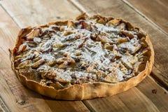 Домодельный органический яблочный пирог Стоковое Изображение