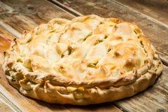 Домодельный органический яблочный пирог Стоковое Фото