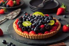 Домодельный пирог плодоовощ ключевой известки Стоковая Фотография