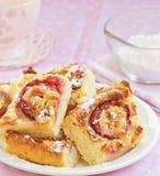 Домодельный пирог сливы и риса Стоковое Изображение