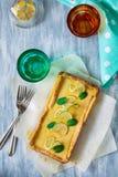 Домодельный пирог творога лимона Стоковые Фотографии RF