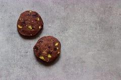 Домодельный посоленный ледник фисташки шоколада, кусок-и-печет печенья рождества Стоковое Изображение RF